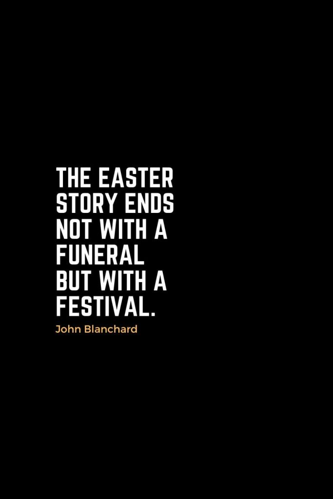 Motivational Christian Quotes (39): The Easter story ends not with a funeral but with a festival. - John Blanchard