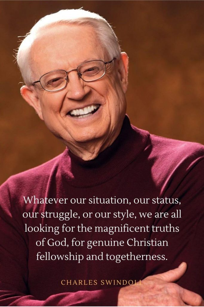 Charles Swindoll Quotes (32): Whatever our situation, our status, our struggle, or our style, we are all looking for the magnificent truths of God, for genuine Christian fellowship and togetherness.