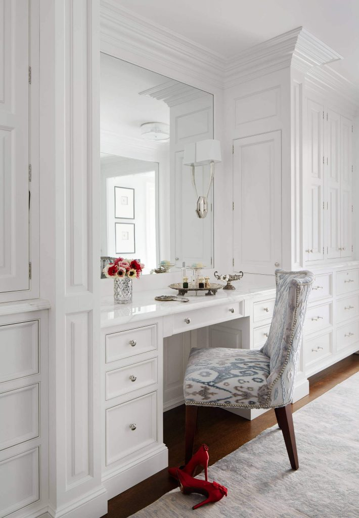 A dressing table area