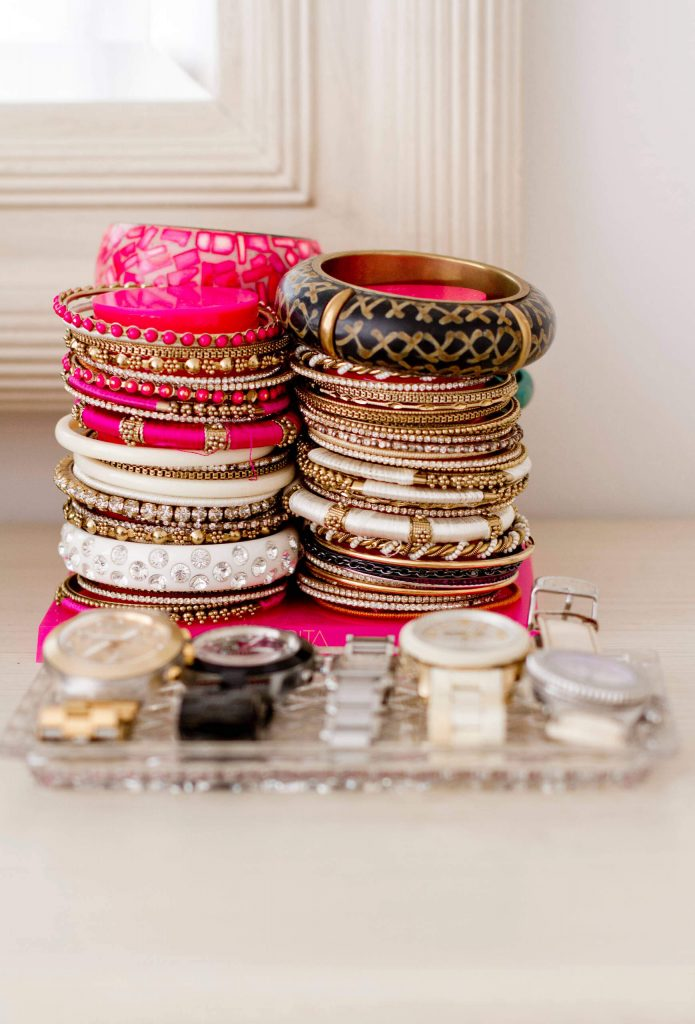 Bracelets, rings and watches organizing ideas