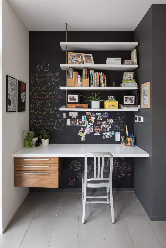 Chalk painted desk nook