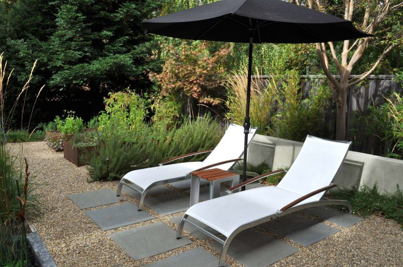 Design ideas for a traditional backyard gravel landscaping in San Francisco.