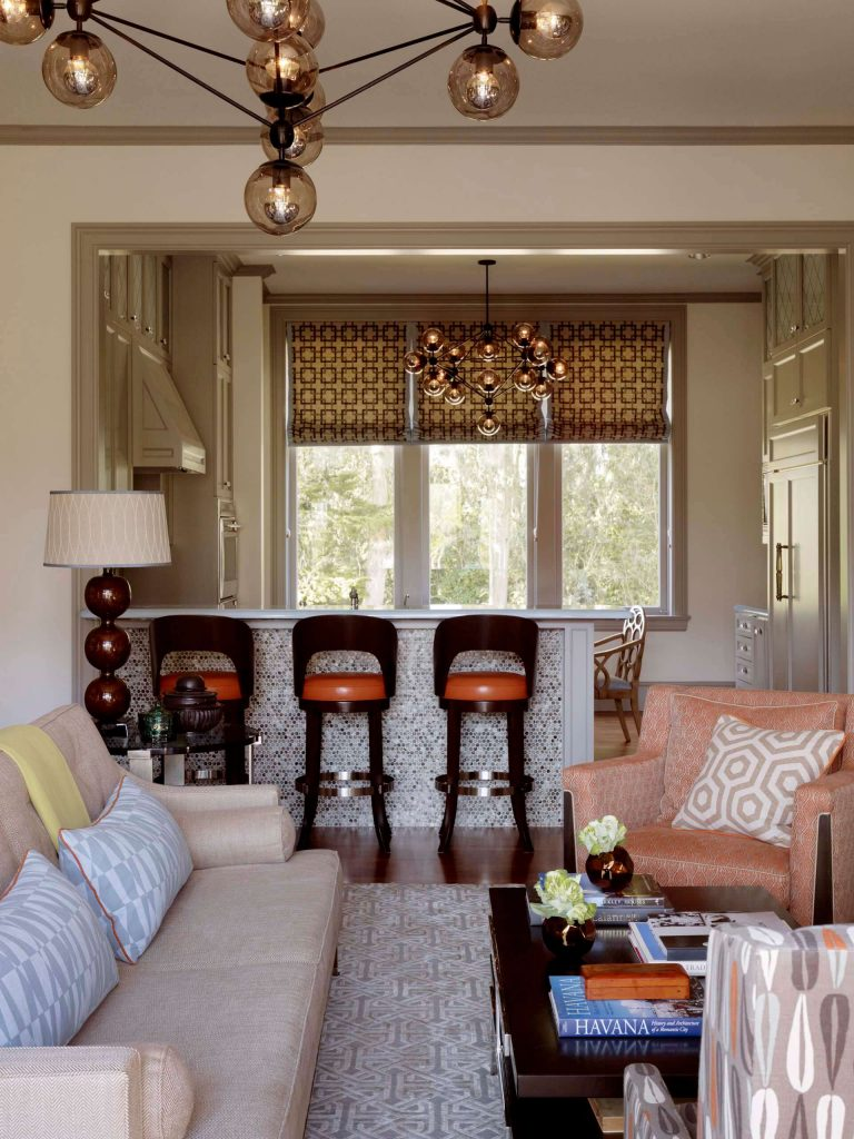 Inspiration for a contemporary open concept dark wood floor family room remodel in San Francisco with beige walls