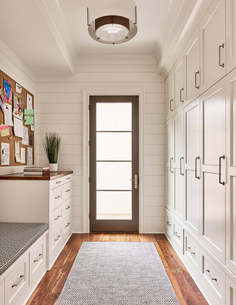 Put extra storage in a hallway or mudroom