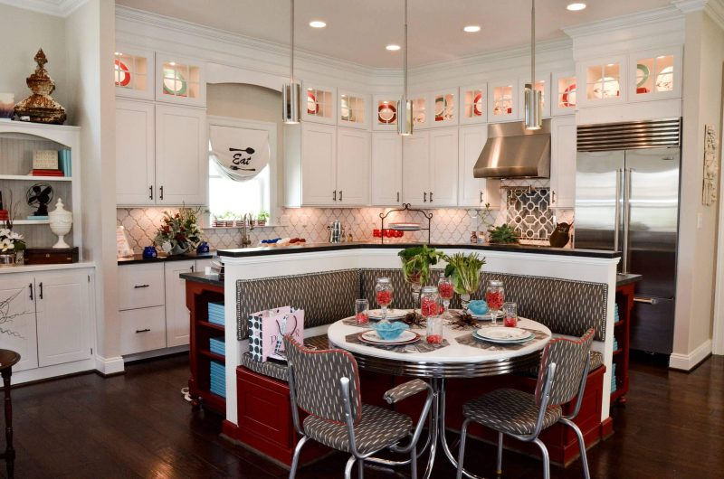 Red and Retro Kitchen