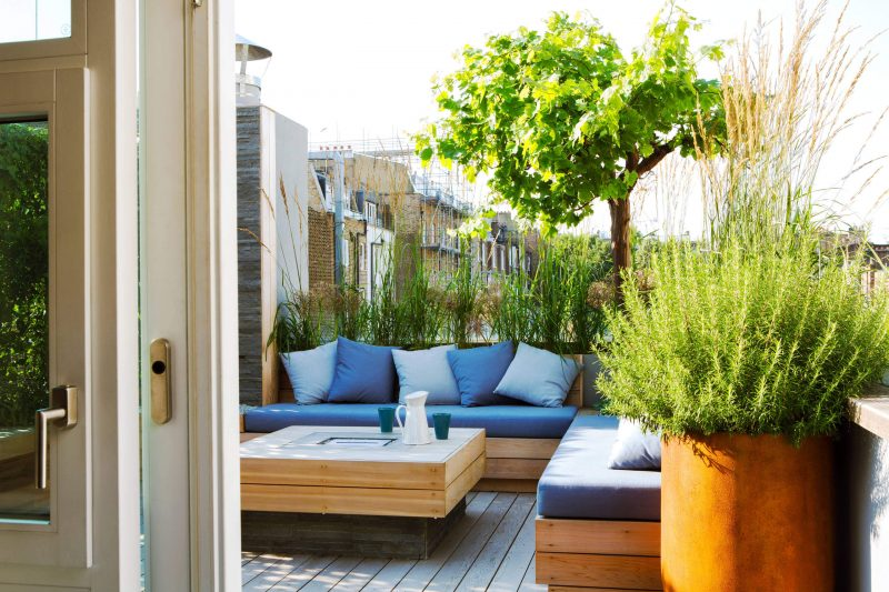 Roof terrace Central London