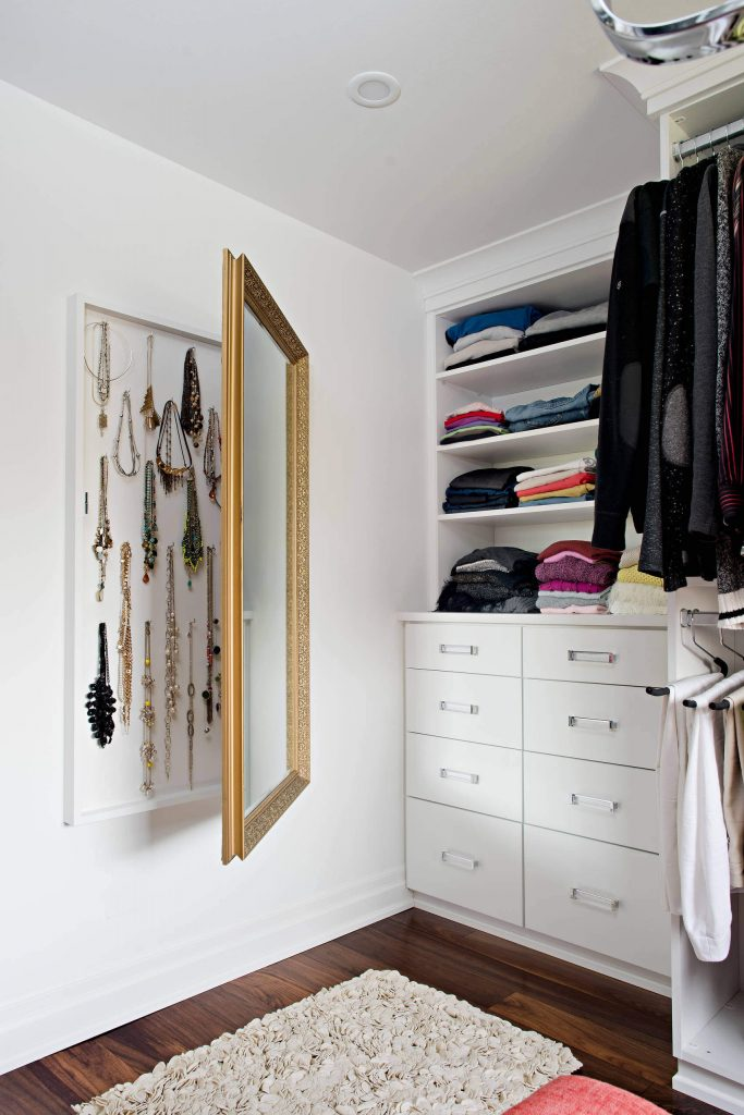 Stow your jewelry behind a mirror
