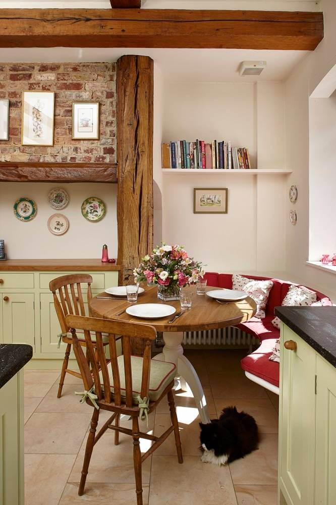 This rustic kitchen corner in England was designed