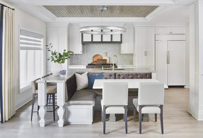Tufted and Turned Kitchen