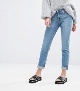 Way Mid Rise Stretch Straight Leg Jeans