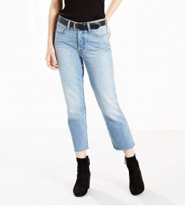 Wedgie Fit Straight Jeans in Rough Tide