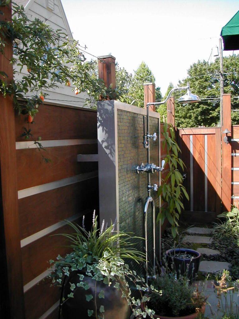 Antique shower fixture in Portland, Oregon