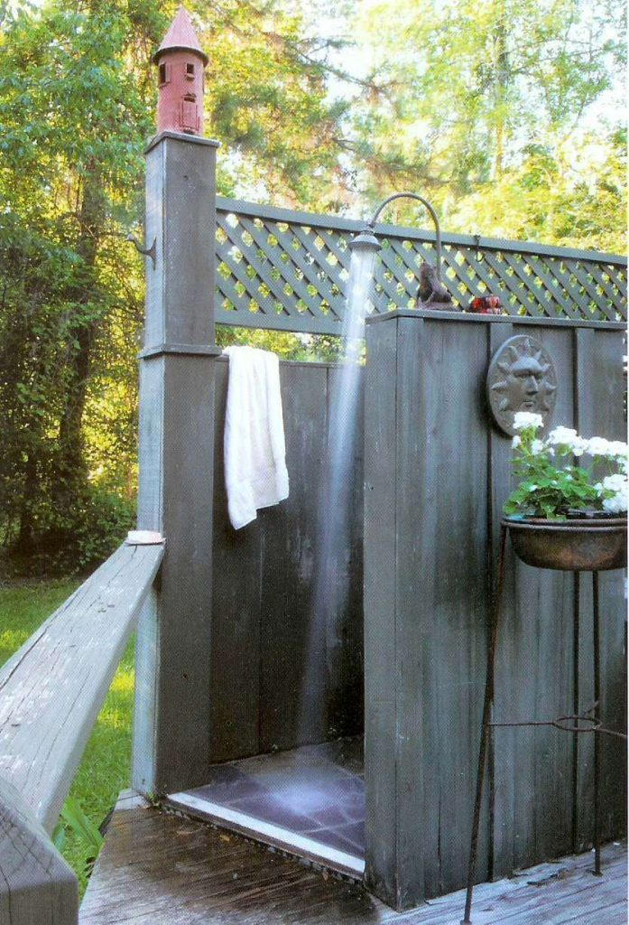 Outdoor shower outside of New Orleans